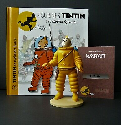 """LARGE 5/"""" TINTIN FIGURINE /""""OFFICIAL COLLECTION/"""" #M06 SNOWY WITH HIS BONE"""