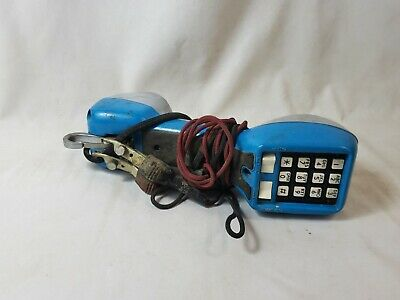Vintage GTE Model M326-1 Telephone Tester Lineman Butt Set Handset Phone Blue