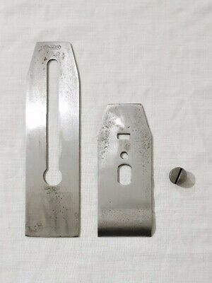 """Stanley Wood Plane 2"""" Blade and Chip Breaker with Retaining Screw"""