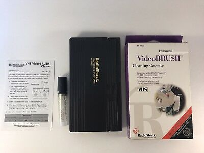 Professional Radio Shack Video Brush Cleaning Cassette Care VHS VCR
