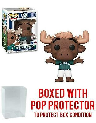POP! Sports MLB Mascots Seattle Mariners, Mariner Moose Action Figure (Bundled w