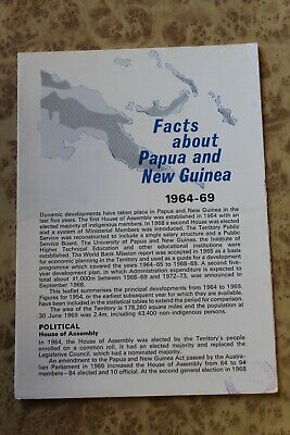Facts PAPUA and NEW GUINEA 1964 - 1969 Vintage PNG History Booklet Independence