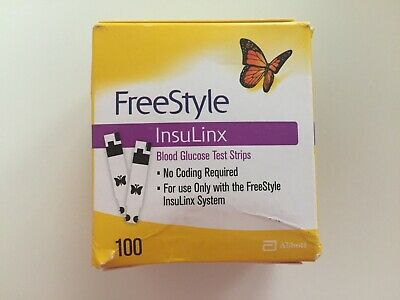 100 FreeStyle Insulinx Diabetic Test Strips EXP 05/31/2020  (1X100Ct) Ships FREE