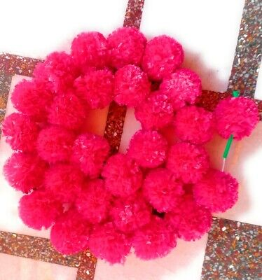 Artificial Marigold Garland hot pink  Home Wedding Decoration Pack Of 5