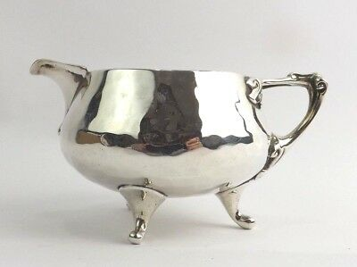 Jug Planished Solid Sterling Silver Art Nouveau Arts & Crafts Pearce London 1915