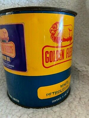 Golden Fleece 5lb grease tin. Likely to be a change over tin with Golden Fleece
