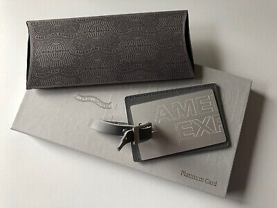 NEW American Express metall luggage tag - Platinum - AMEX like Centurion