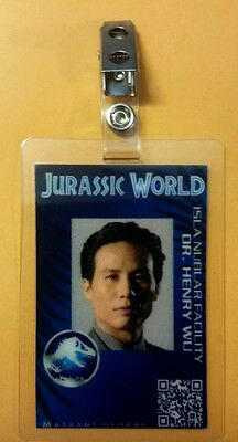 Jurassic World ID Badge - Dr. Henry Wu costume prop cosplay
