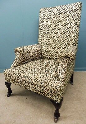 Antique Victorian High Back Armchair Circa 1900