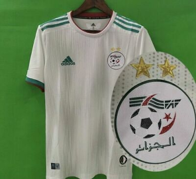 Maillot Algerie 2 Etoiles CAN 2019 Jersy  2 stars Sans flocage