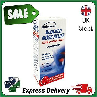 Galpharm Blocked Nose Relief Nasal Spray 15ml - FAST AND FREE DELIVERY