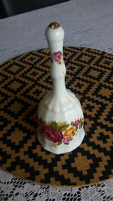 "Miniature china Dinner Bell "" Cottage Rose"""