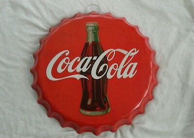 COCA COLA. Large 'bottle top'  Wall Plaque~ New.