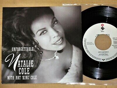 """7"""" Natalie Cole With Nat 'King' Cole* - Unforgettable / Cottage For Sale - NM"""