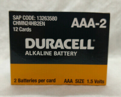 Duracell AAA Batteries - Case of 24 (12 2PK per case)