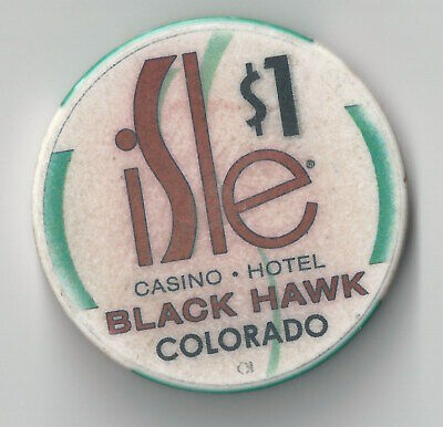 $1 Colorado Isle Of Capri 2Nd Edt Casino Chip Blackhawk  Chipco Bird
