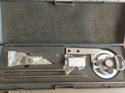 360 degree bevel protractor stainless steel good condition. Comes in a case