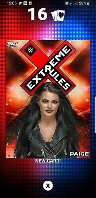 Topps WWE Slam Digital Card 500cc Paige Extreme Rules red 2019