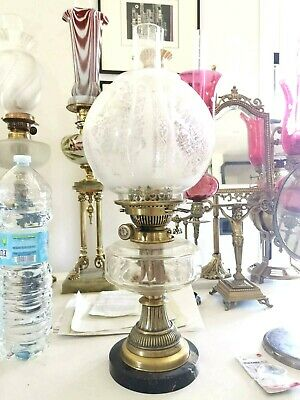 English oil lamp typical of the first Victorian period.