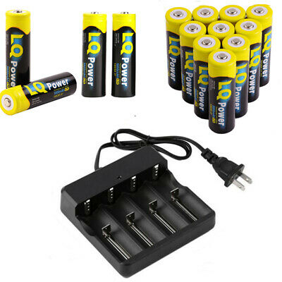5800mAh 18650 Battery Rechargeable 18650 Batteries 4 Slots Smart Charger