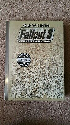Fallout 3 Game Of The Year Collectors Edition Official Strategy Guide w/ Map