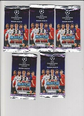 Match Attax : UEFA Champions League trading Cards - 5 x Packs