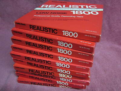 """10 Reels Realistic Low Noise Tape 1800 Ft 7"""" reel to open reel CLASSICAL 44-754A"""