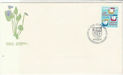 Canada 1984 New Brunswicks emblem Purple Violet FDC Stamps Cover ref 22023