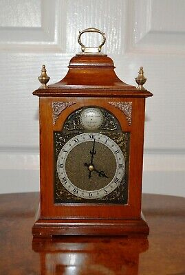 Antique Walnut Small Bracket Clock with Quality Quartz Movement