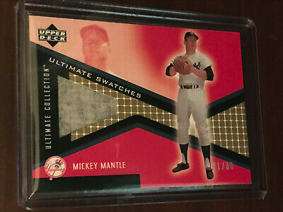 2002 Upper Deck Ultimate Collection Mickey Mantle game worn pants relic card /30