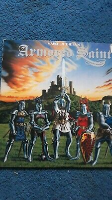 Armored Saint March Of The Saint Lp 1984 Band Debut 1st Edition Chrysalis VG+VG+