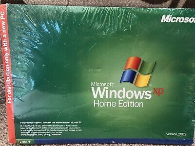 Microsoft Windows xp home edition 2002. Brand New. Sealed.