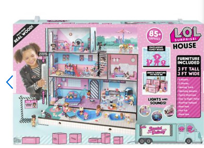 LOL Surprise Doll House With 85+ Surprises Wooden Multi Story Girls-NEW
