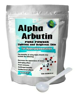 Alpha Arbutin Powder Skin Whitening Lightening Bleaching, Diy Serum Lotion Cream