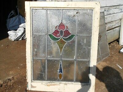Stained glass leaded panels Art Deco