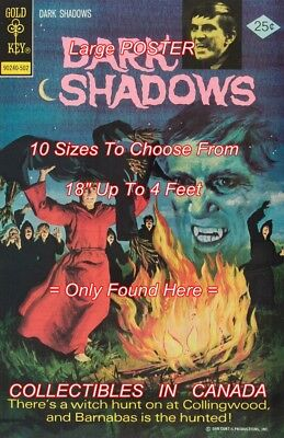 """DARK SHADOWS 1975 #30 Barnabas WITCH =POSTER 10 SIZES Not Comic Book 18"""" - 4 FT"""