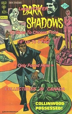 """DARK SHADOWS 1975 #34 Barnabas CHESS = POSTER 10 SIZES Not Comic Book 18"""" - 4 FT"""