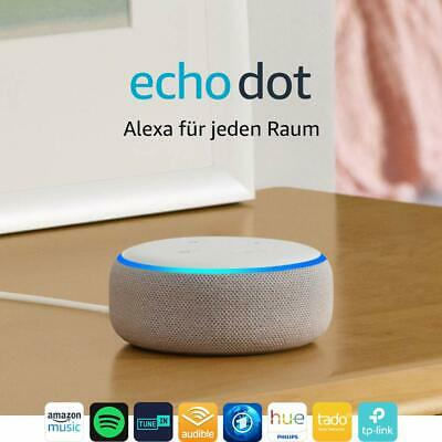 Amazon Echo Dot 3 gen. Sandstein Alexa Sprachsteuerung Smart Mediaplayer NEU
