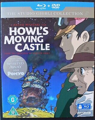 The Studio Ghibli Collection.Howl's Moving Castle.Blu ray and DVD.