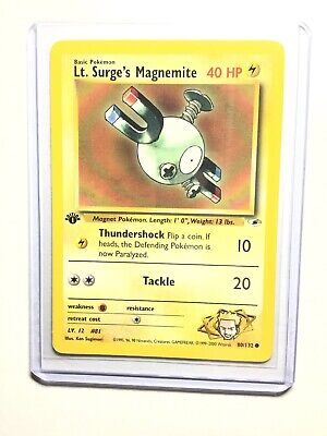 Gym Heroes Common Pokemon Card EX-NM Surge/'s Magnemite 80//132 1st Ed Lt
