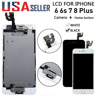 OEM For iPhone 6S 6 7 8 Plus LCD Touch Screen Full Replacement w/Button & Camera