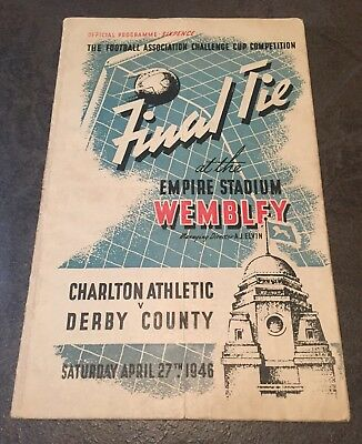 FA CUP FINAL PROGRAMME 1946: Charlton v Derby County