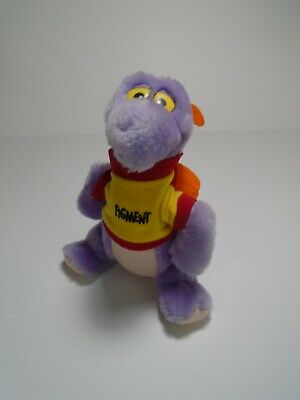 Vintage 1982 FIGMENT Disneyland Walt Disney World Purple Dragon Plush 7""