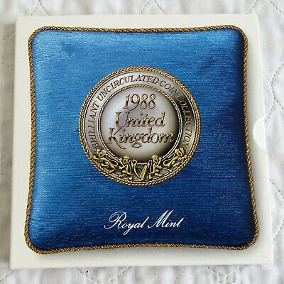 UK 1988 ROYAL MINT BRILLIANT UNCIRCULATED 7 COIN SET - sealed pack