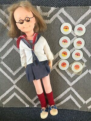 Vintage 1962 Charmin Chatty Cathy Doll Mattel Original Clothing, 8 Records WORKS