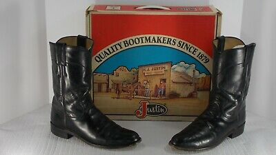 2a36130fd67 VINTAGE JUSTIN ROPER Cowgirl Western Riding Boots Made in USA SZ 7 ...
