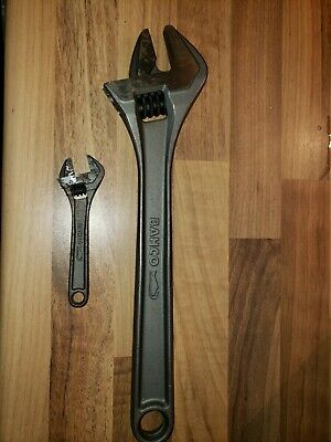 Bahco adjustable spanners 12 Inch And 4 Inch 2 spanners