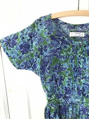 Stunning Vintage Floral St Michael Dress Size 38