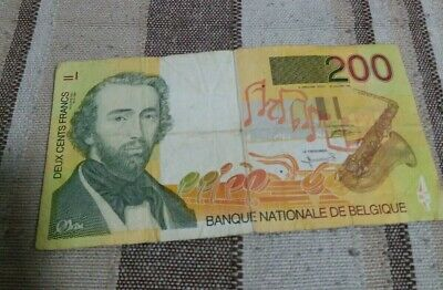 200 Banque Nationale Belgique Frances Notes Belgium good condition