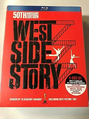 West Side Story 50th Anniversary Limited Edition Box Set 4-Disc Blu-ray Sealed